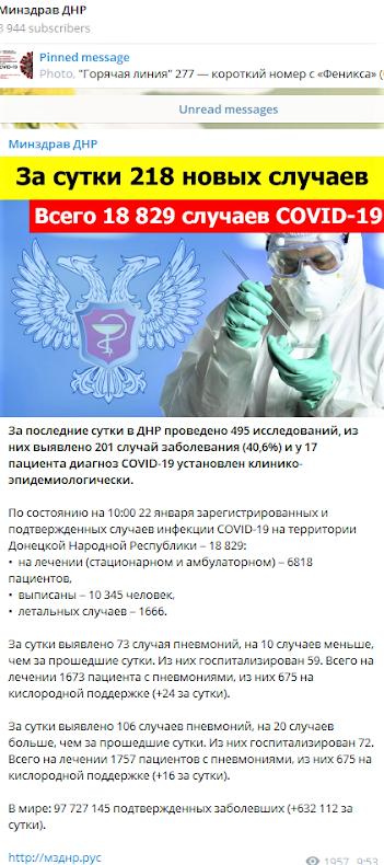 коронавірус в ОДО 22 січня