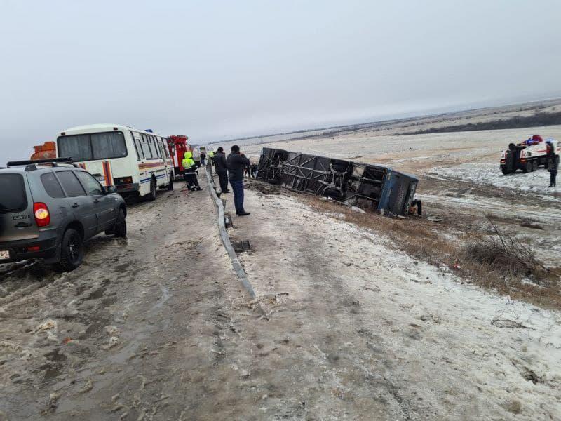 в Ростовской области разбился автобус из Донецка