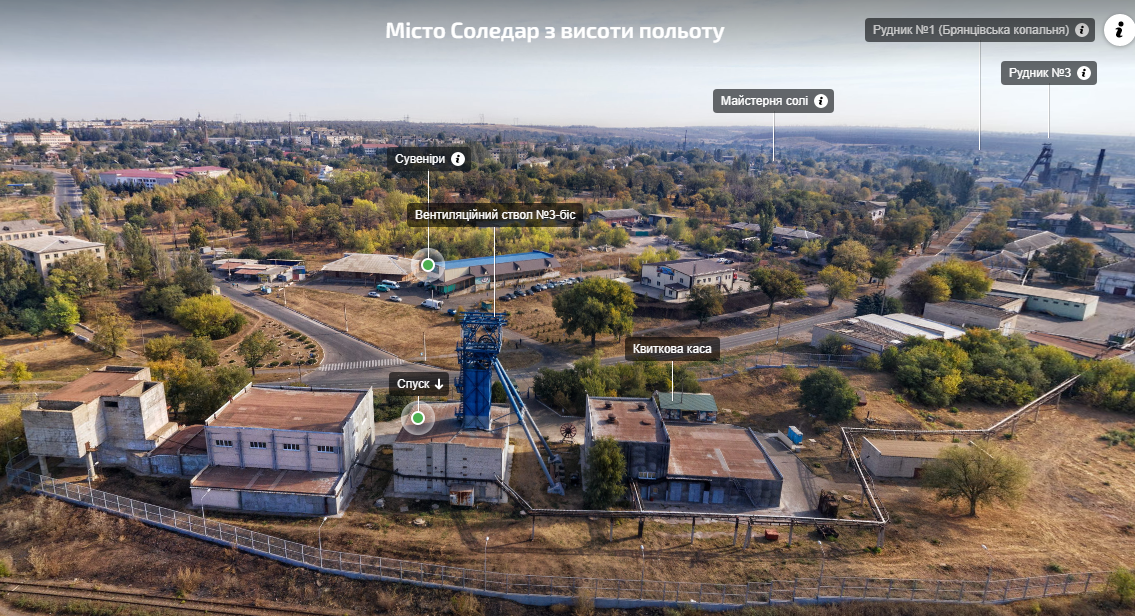 панорама Соледара з дрона