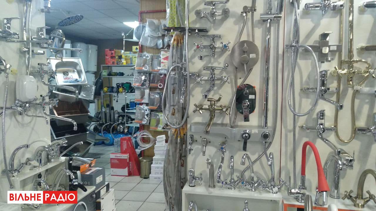 Як працюють магазини сантехніки під час локдауну в Бахмуті на Донеччині