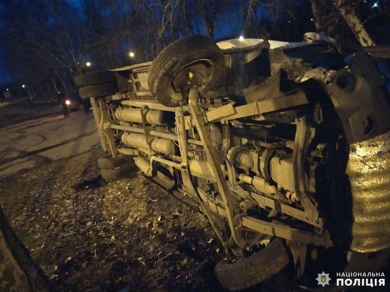 В Дружковке перевернулся автобус, есть пострадавшие