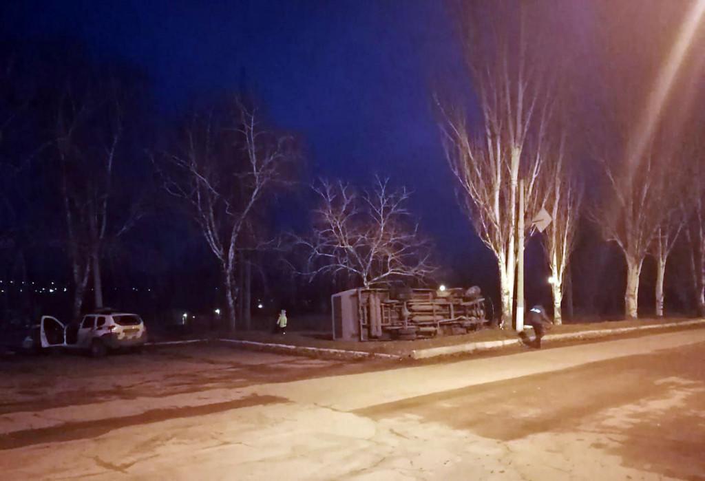 В Дружковке перевернулся автобус, у водителя случился инсульт