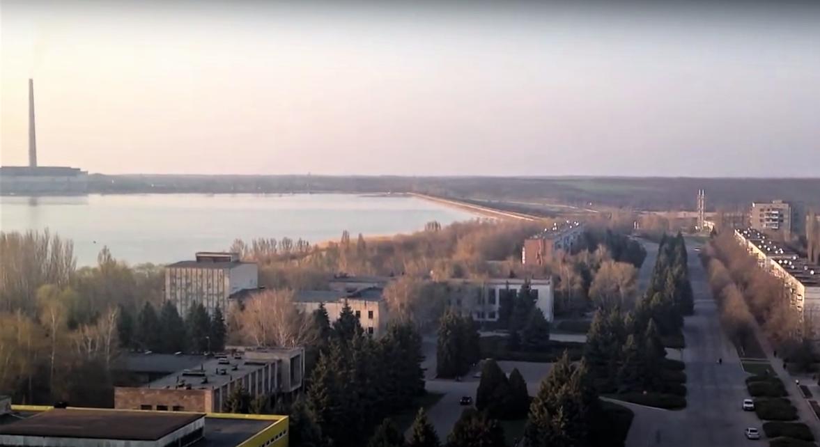 панорама Світлодарська з дрона