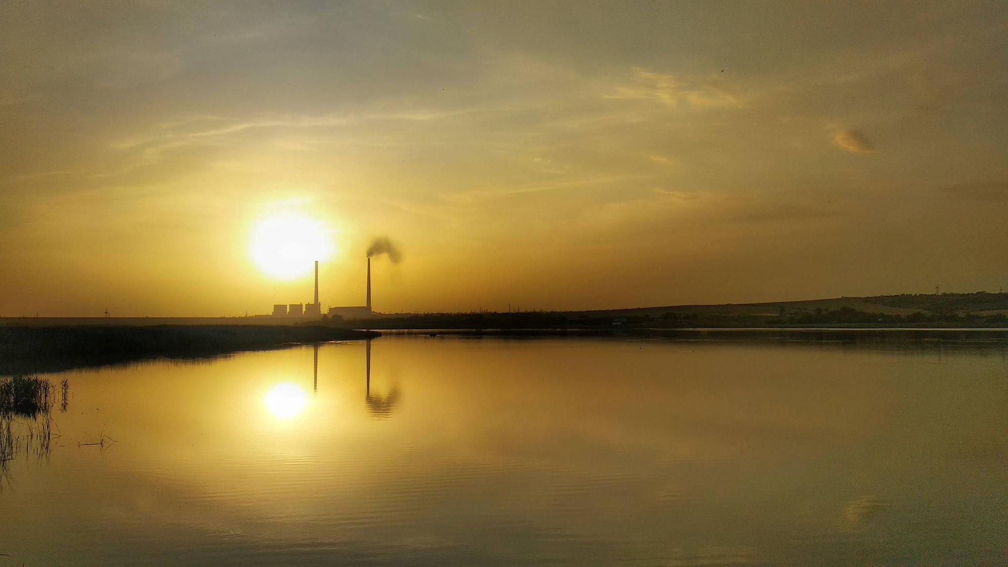 захід сонця у Світлодарську