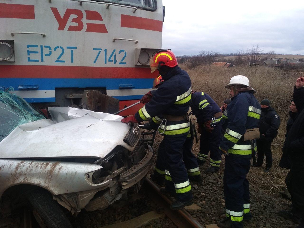 На Донетчине автомобиль столкнулся с поездом. Водитель погиб