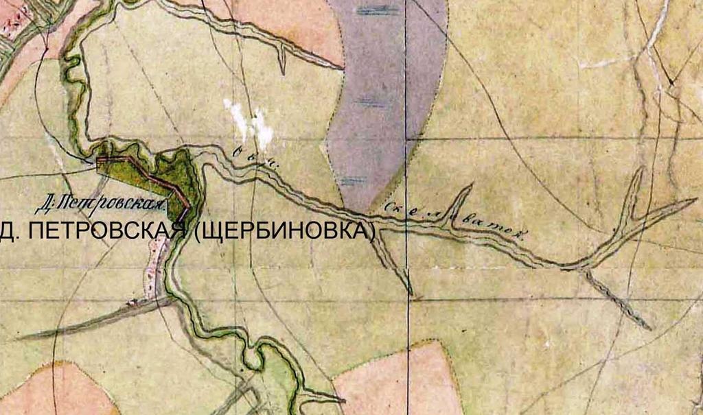 фрагмент мапи Бахмутського повіту за 1830 рік