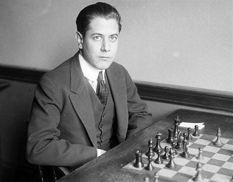 Хосе Раауль Капабланка за шаховою дошкою