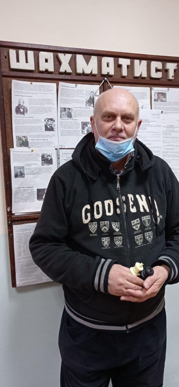 тренер з шахів Михайло Іванюк з Бахмута