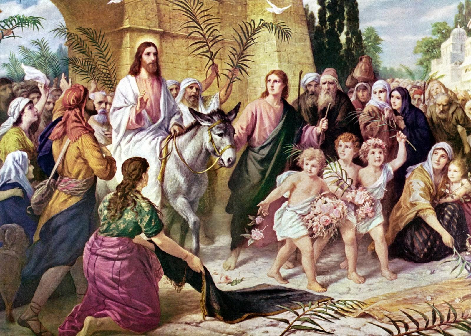 Ісус в'їжджає в Єрусалим