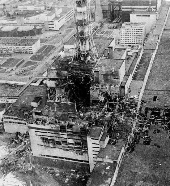 4-й энергоблок ЧАЭС после взрыва