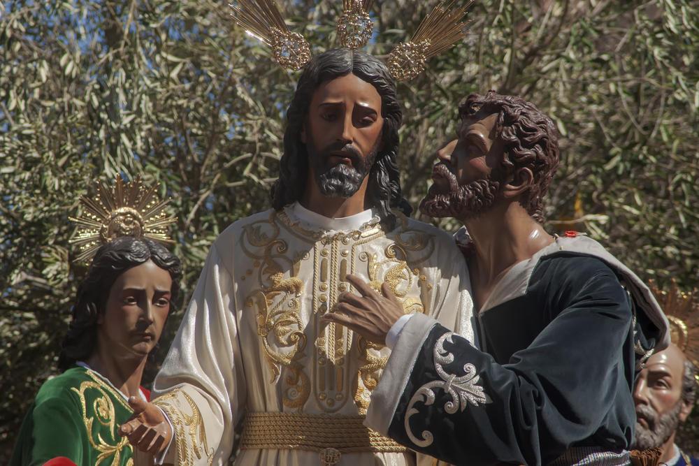 Иуда целует Иисуса