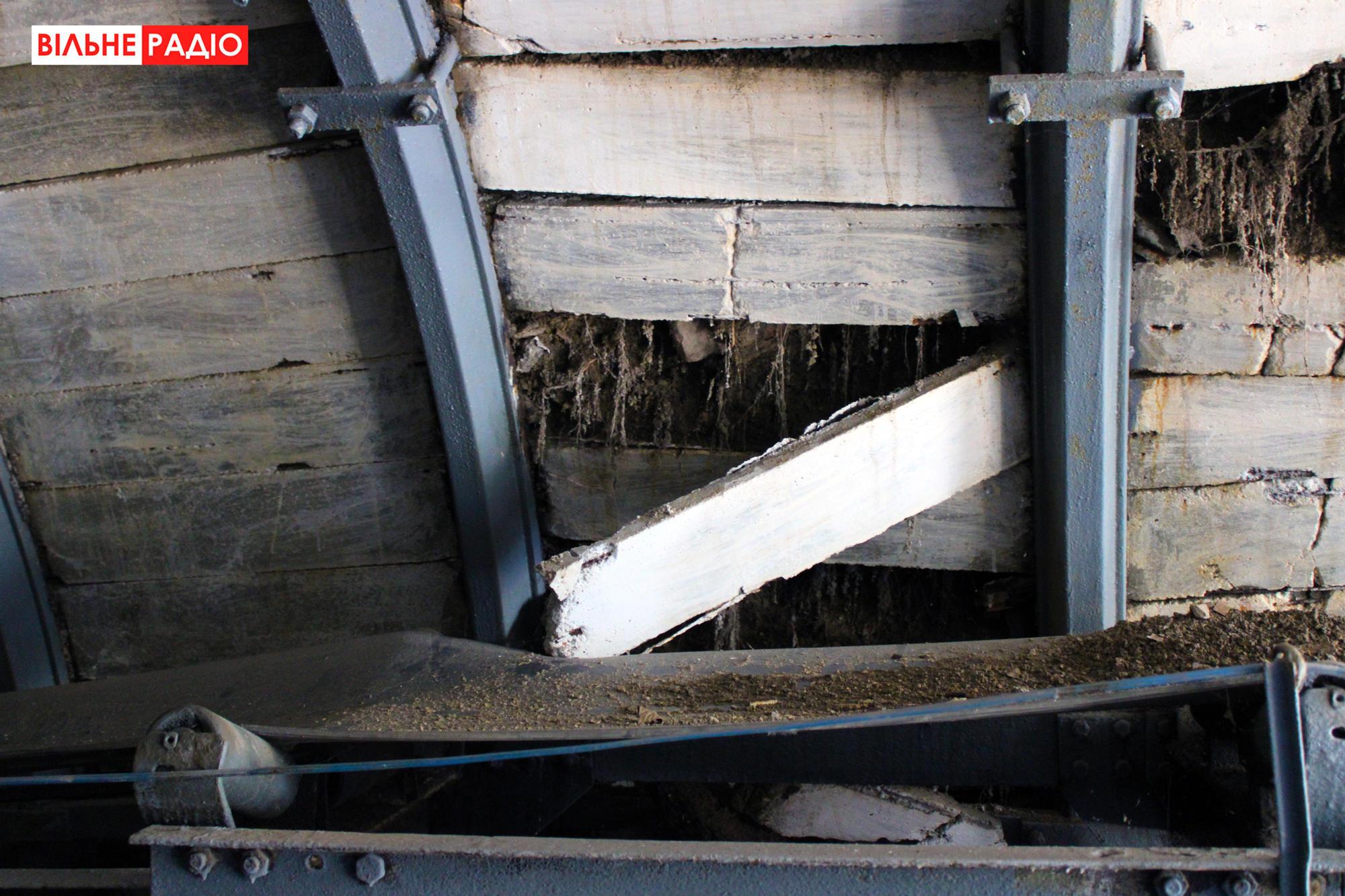 Учебная шахта в Торецке постепенно разрушается
