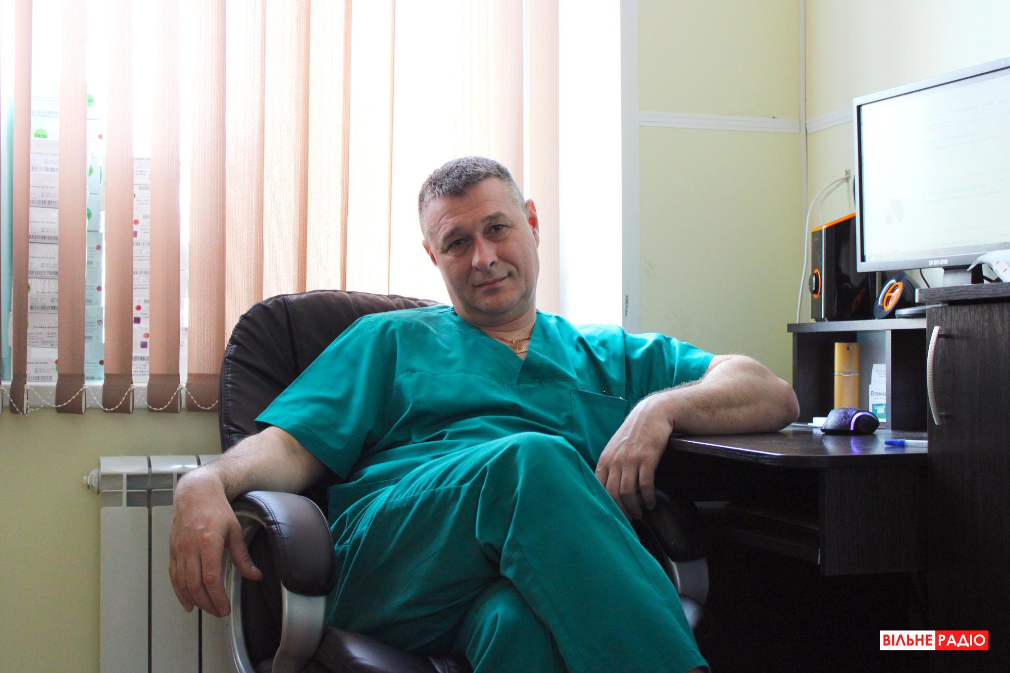 Завідувач травматологічного відділення Багатопрофільної лікарні інтенсивного лікування м. Бахмут Дмитро Бондар