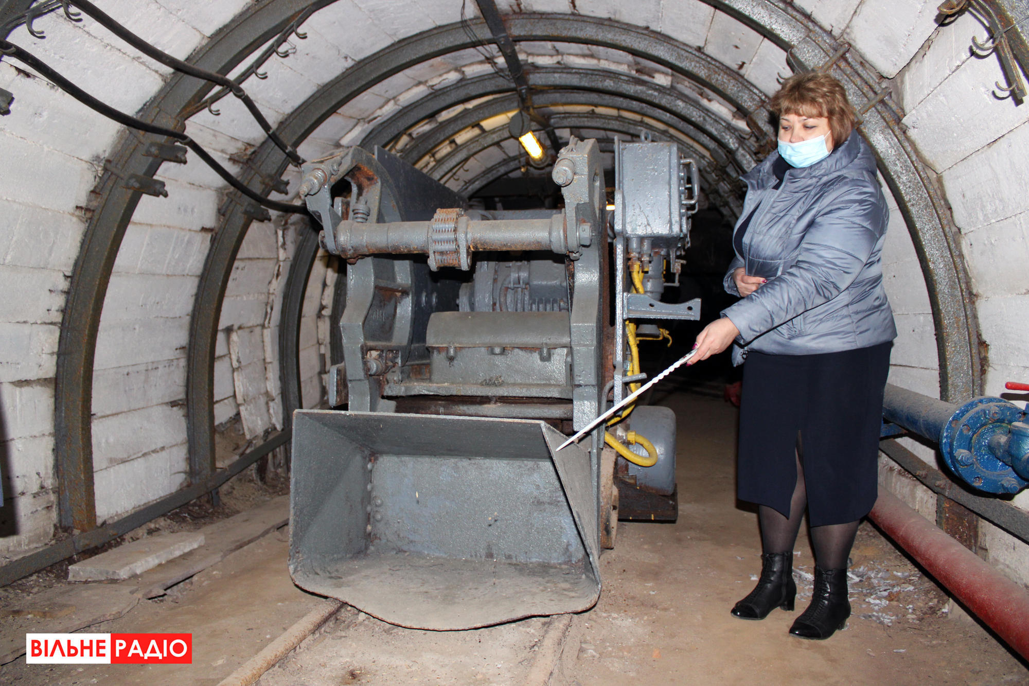 Нагрузочная машина, которую используют на шахтах. Фото из учебной шахты в Торецке