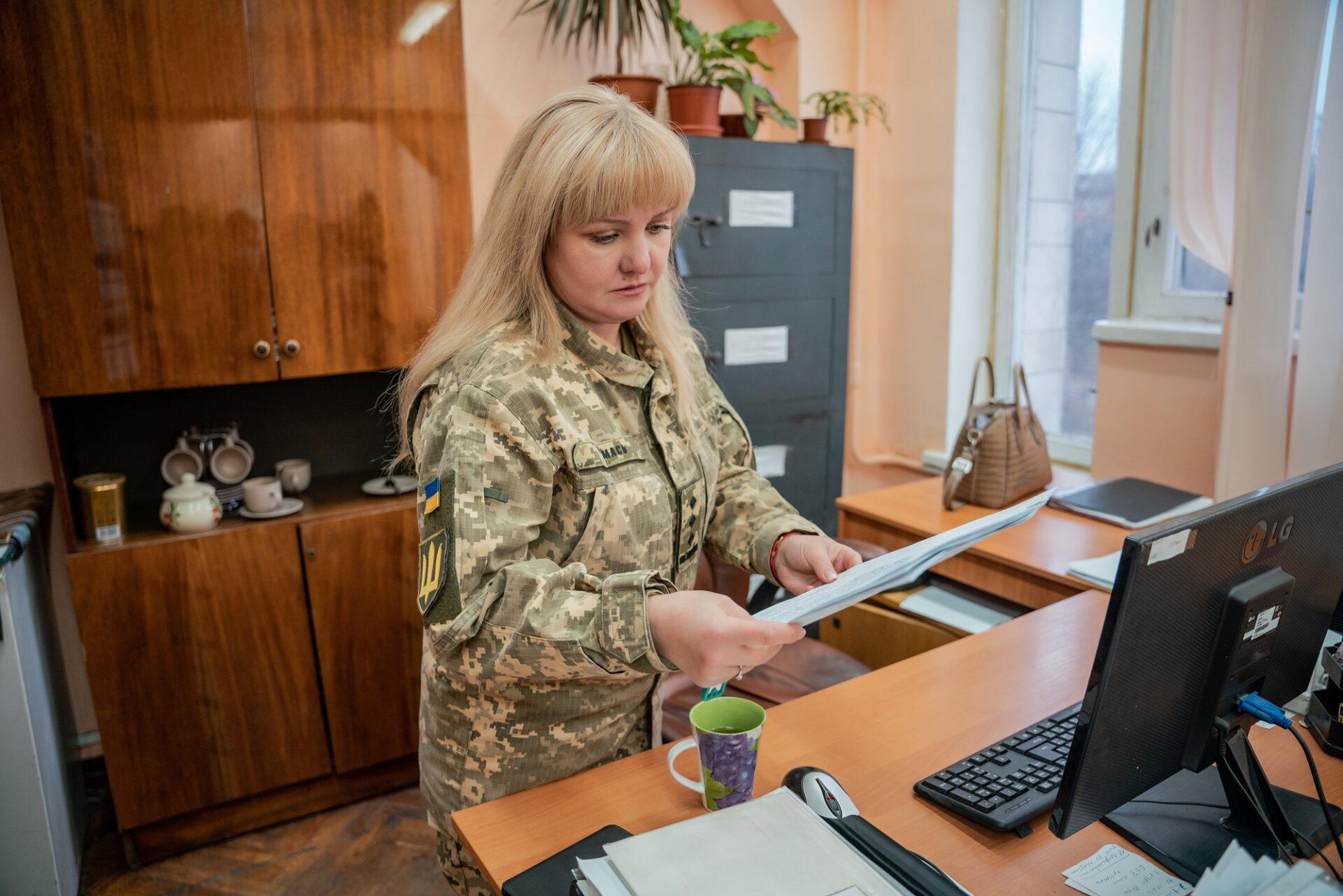 полковниця психологиня Наталія Мась в інституті