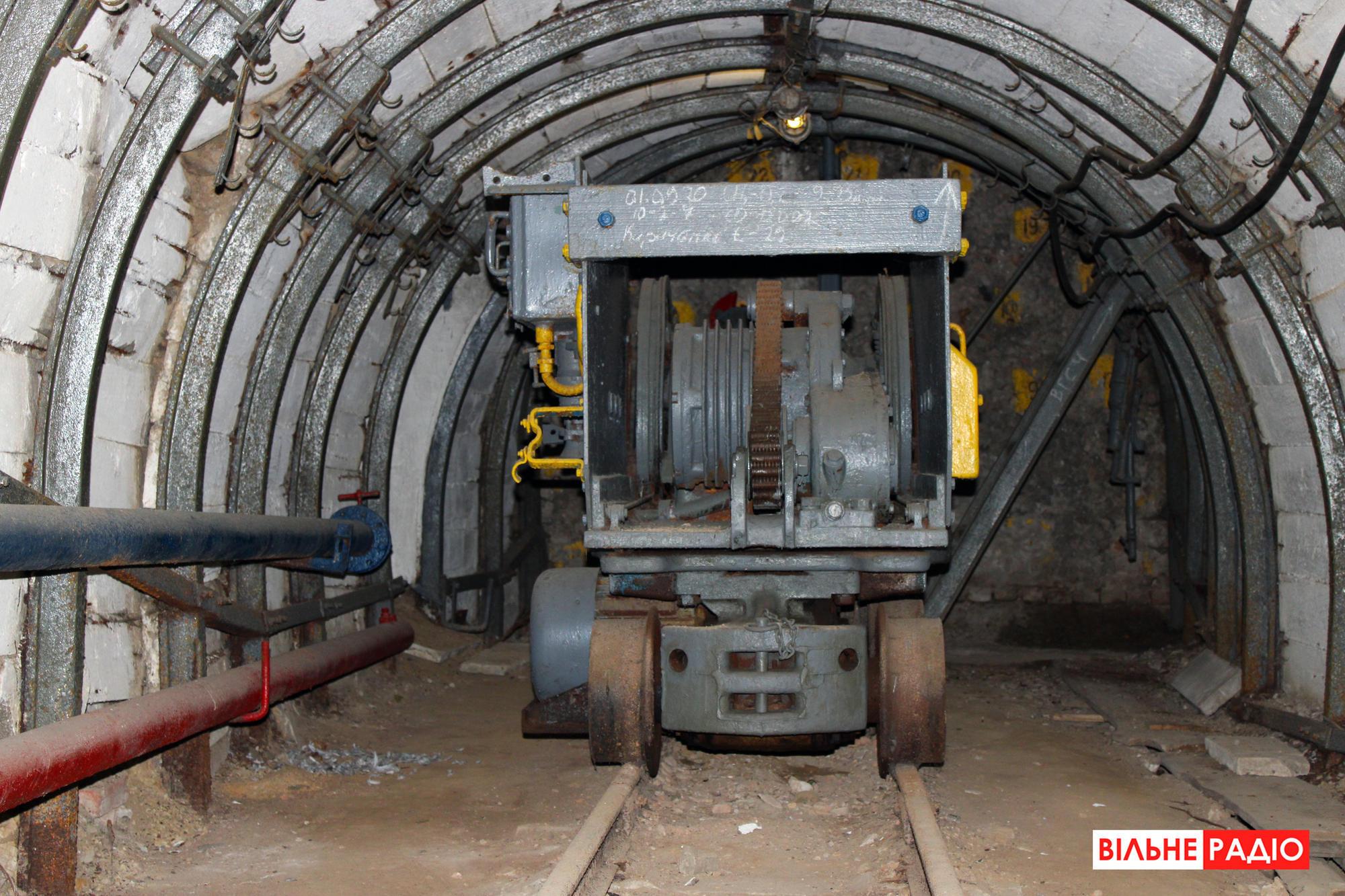 Погрузочная машина, которая вывозит породу. Фото из учебной шахты в Торецке