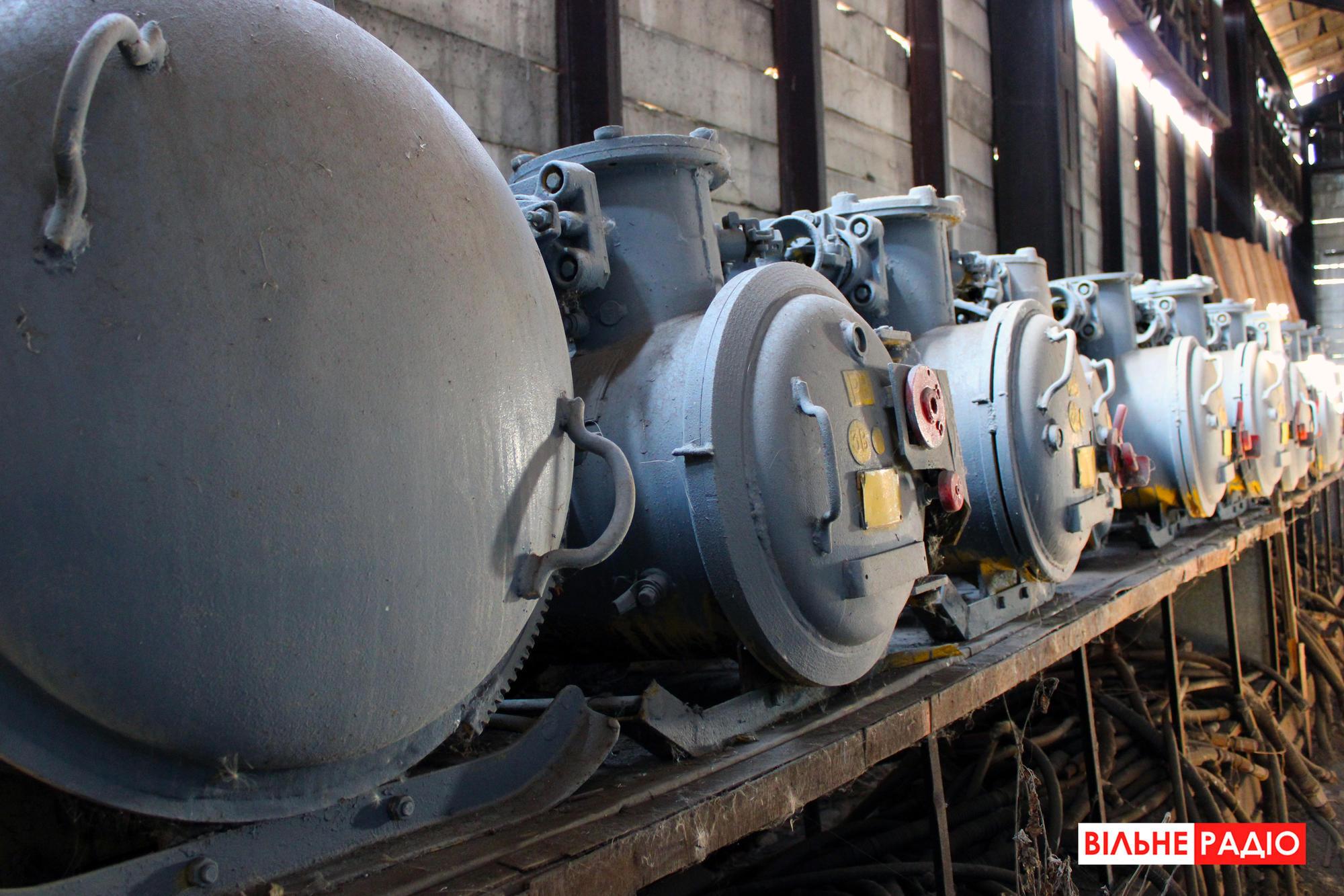 Шахтні пускачі. Фото з навчальної шахти в Торецьку