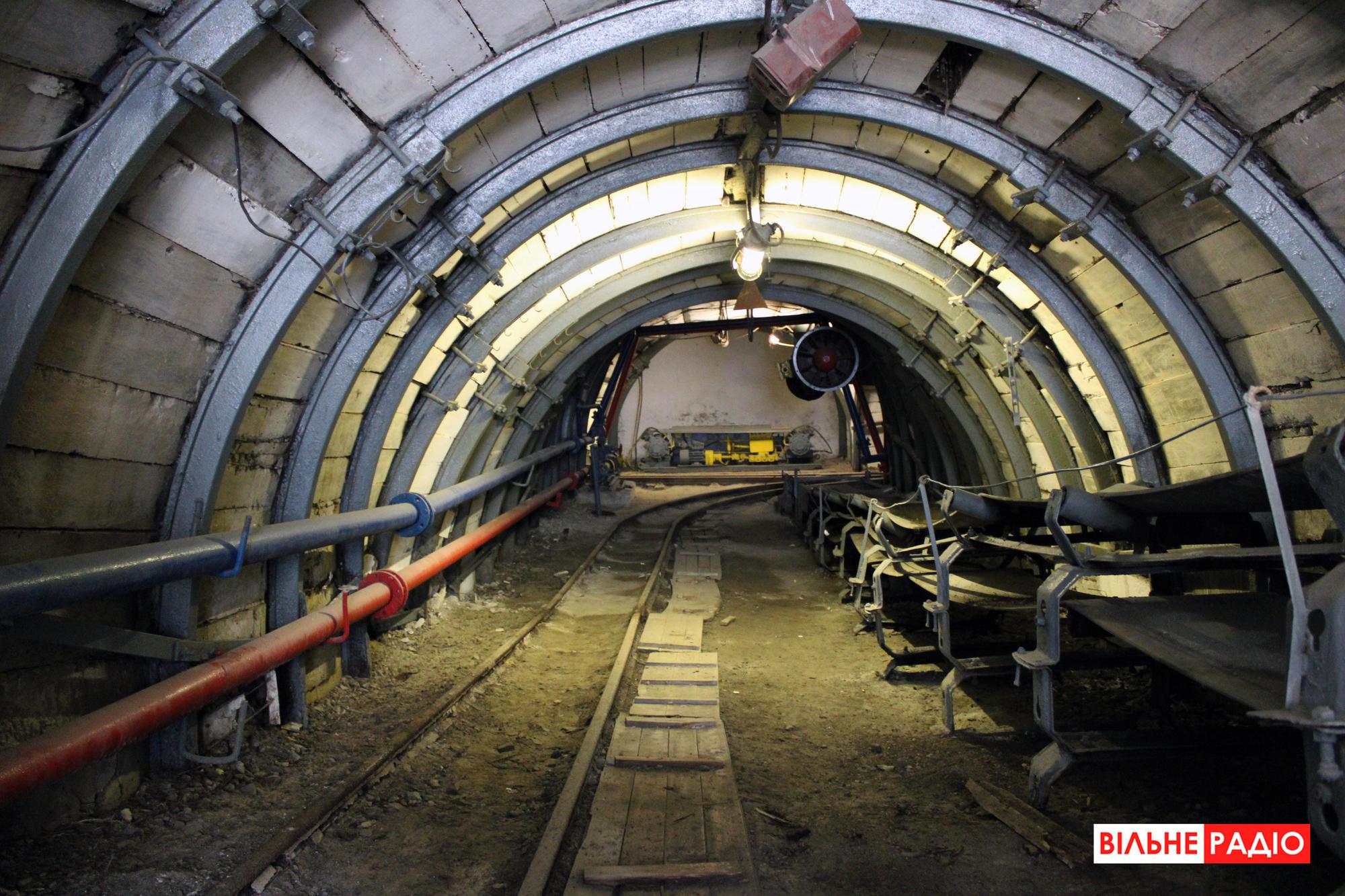Вхід у навчальну шахту в Торецьку