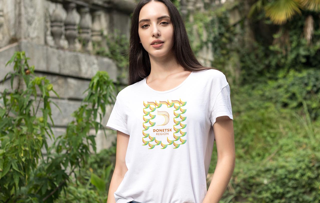 футболка з варіантом нового логотипу Донеччини
