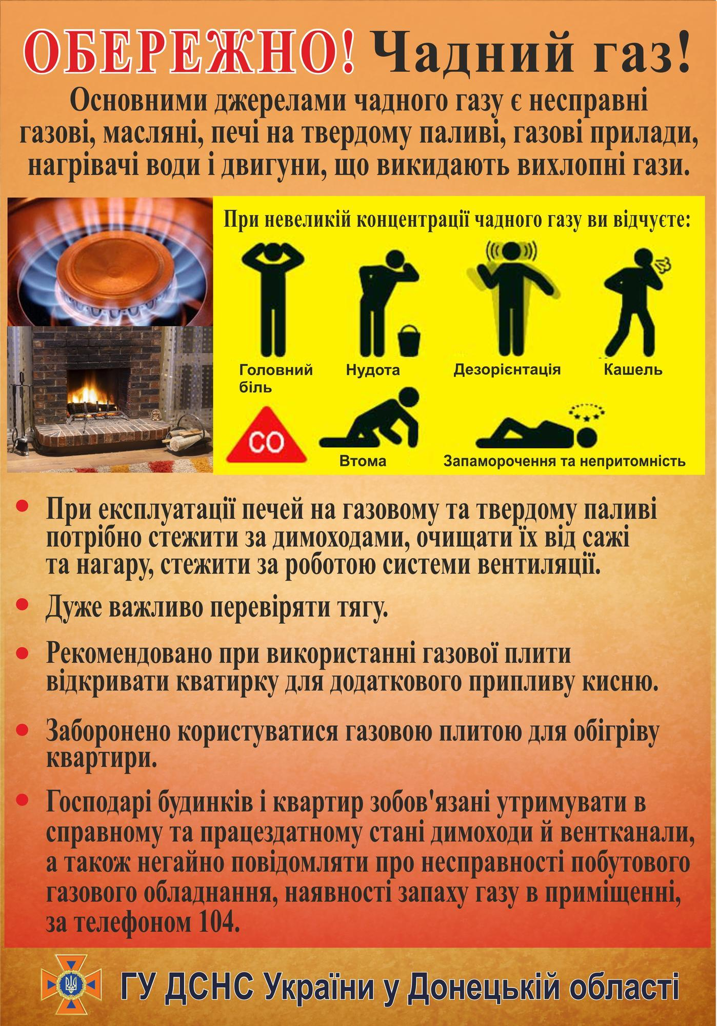 У Часів Ярі на Донеччині троє дітей і вагітна жінка отруїлися чадним газом