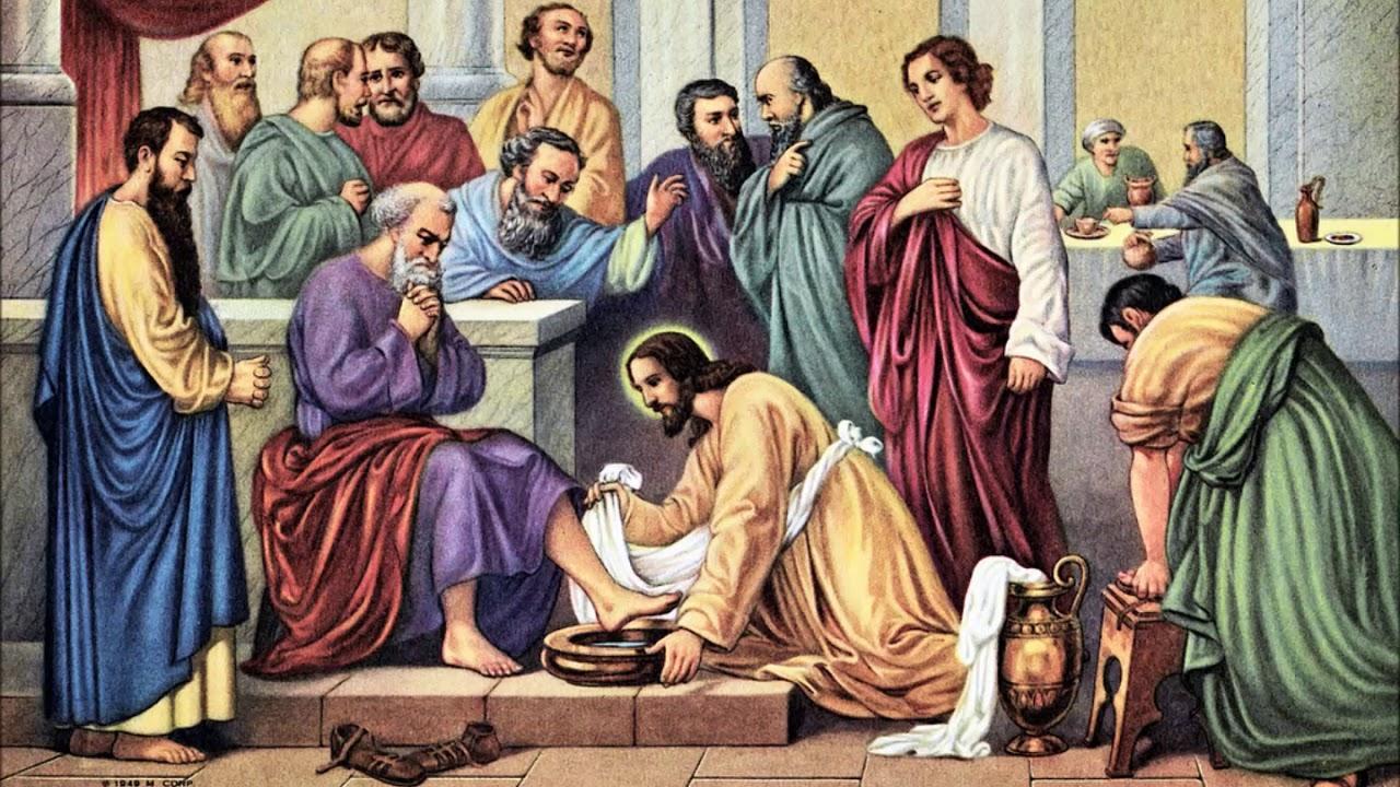 Христос омывает ноги апостолам