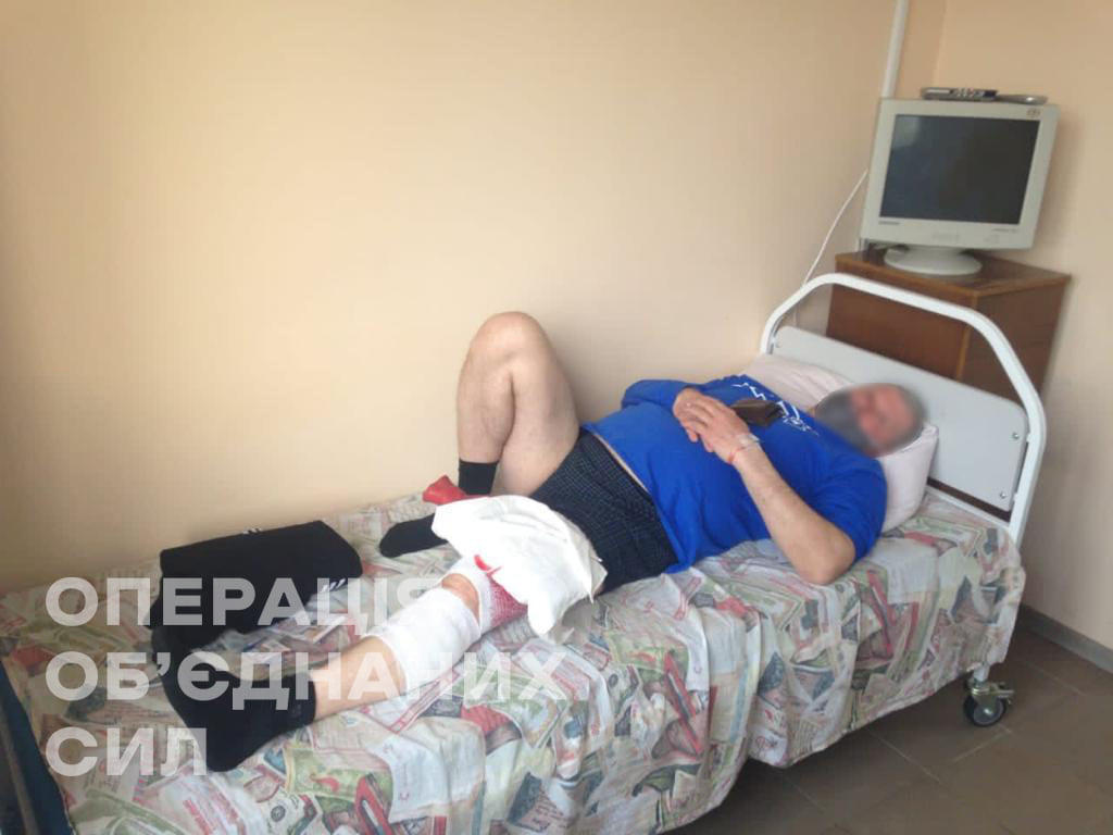 раненный житель Красногоровки