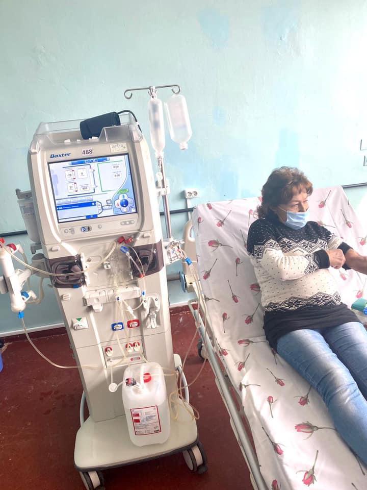 отделение гемодиализа в Торецкой больнице
