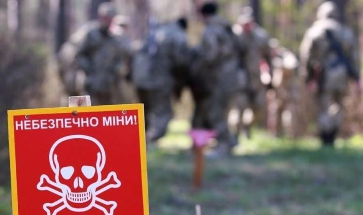 Знак небезпечно міни