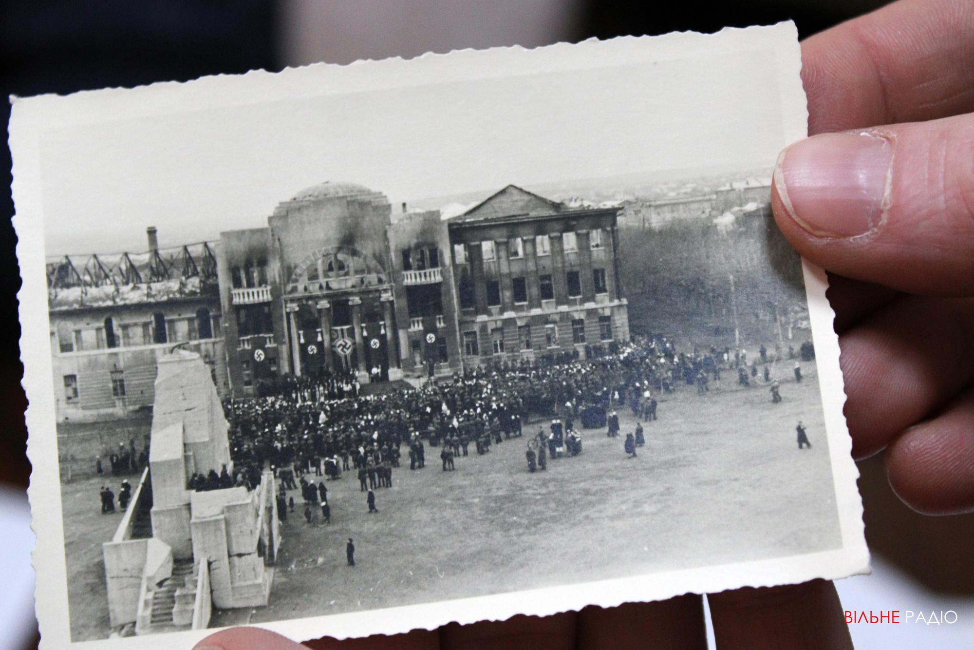 Будівля БК ім. Мартинова у центрі Бахмута, яка постріждала від нацистської окупації