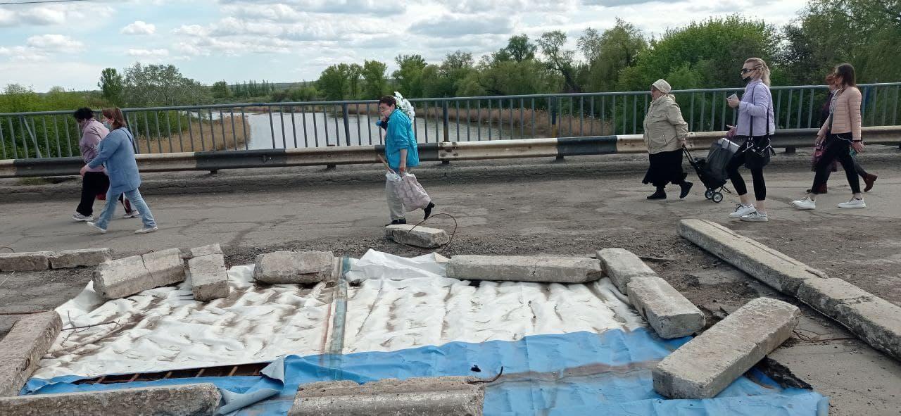 аварийный мост в Славянске