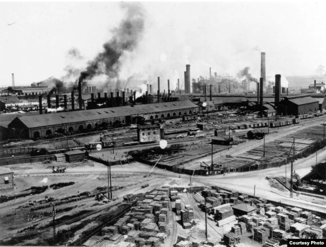 Металлургический завод в Юзовке, ныне Донецке