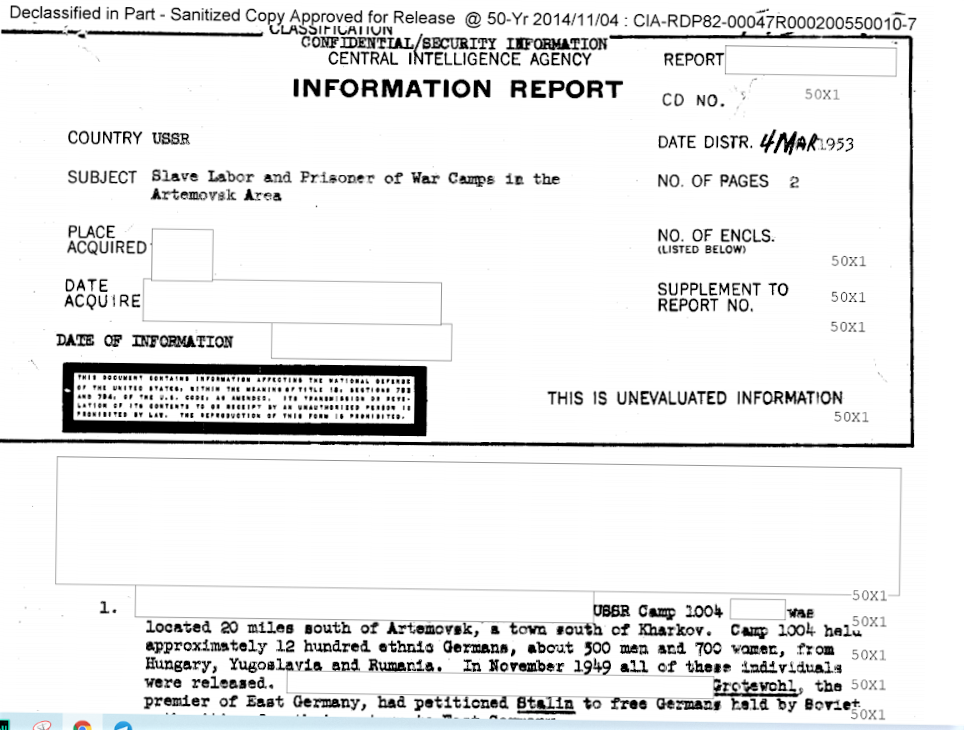 розсекречений документ ЦРУ про Часів Яр та Артемівськ