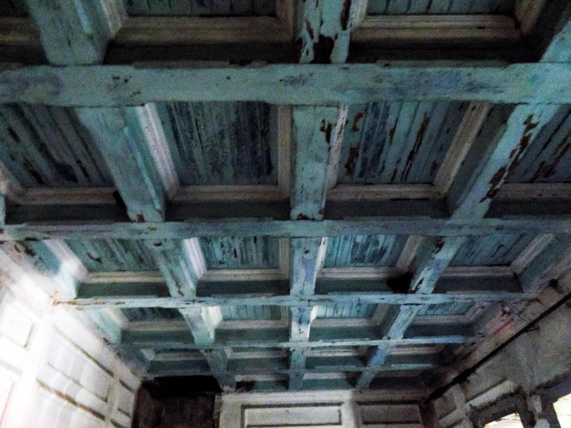 Кессонный потолок в поместье Бантыша на Донетчине