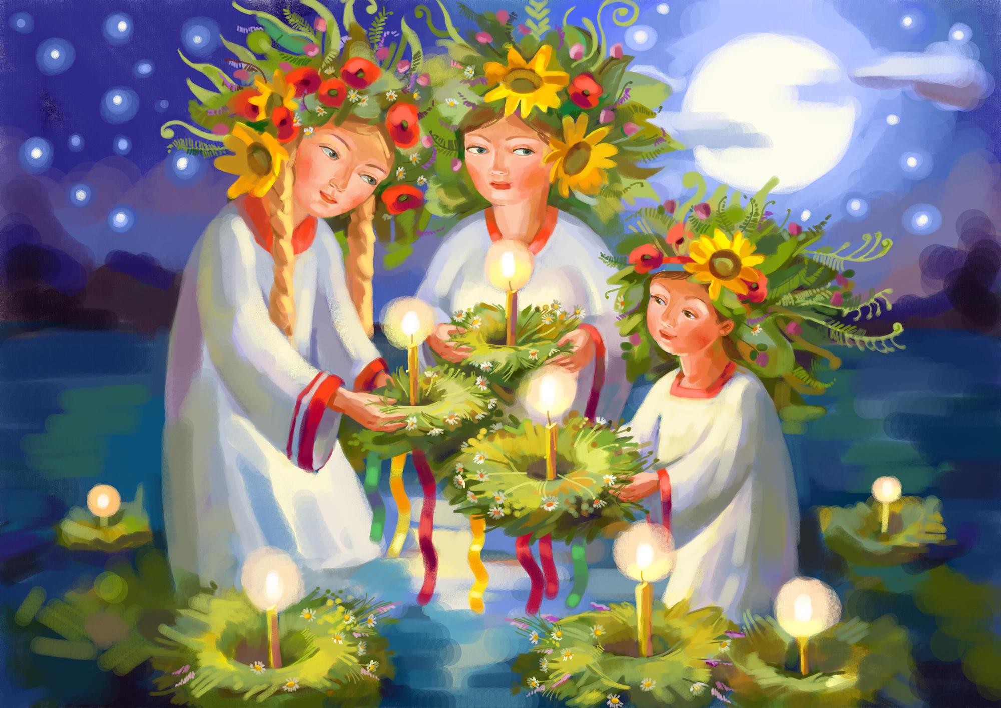 Древние украинцы праздновали в день летнего солнцестояния Ивана Купала