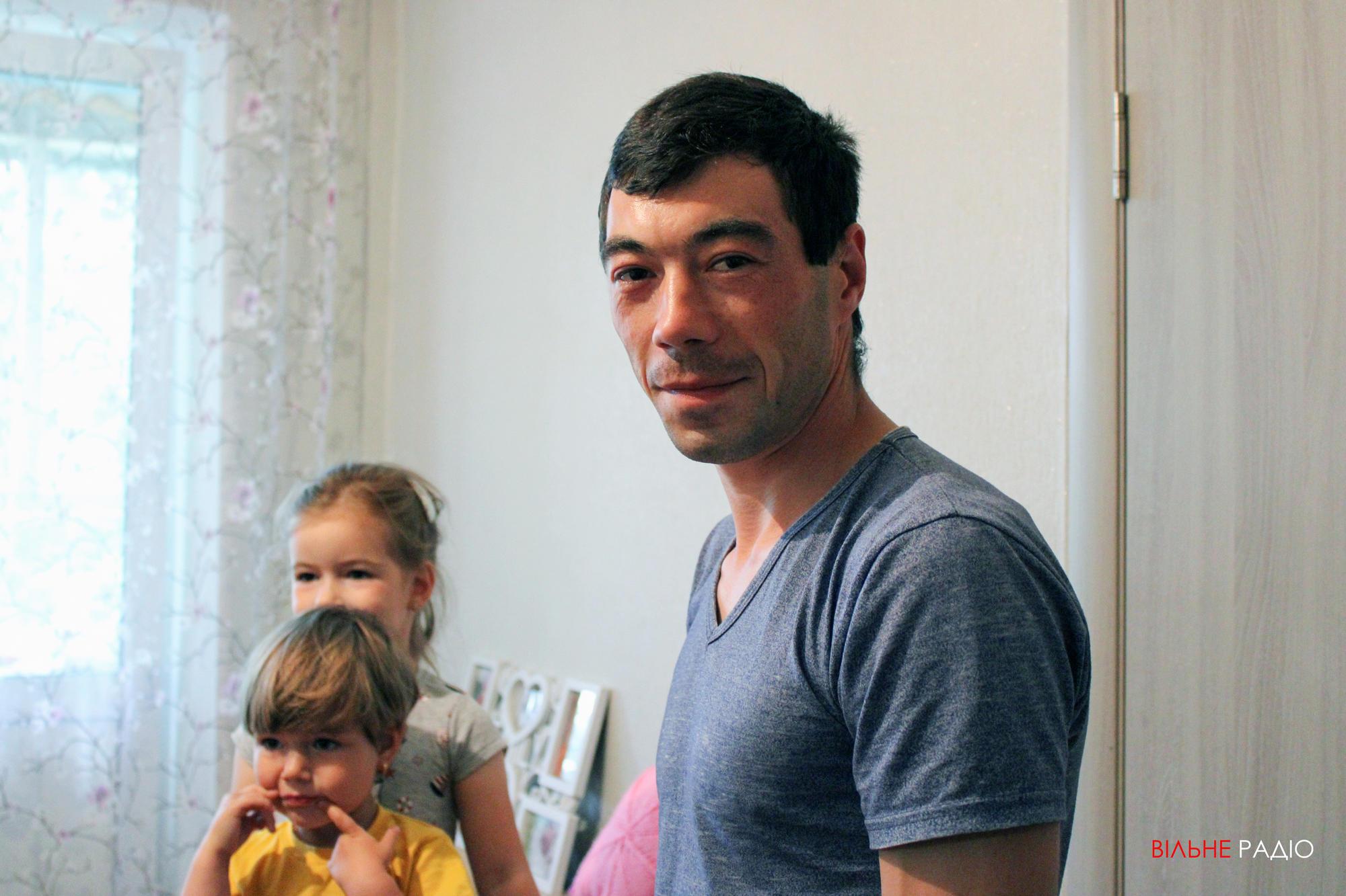 Ярослав Романчук, переехавший из прифронтового Майорска в поселок под Бахмутом