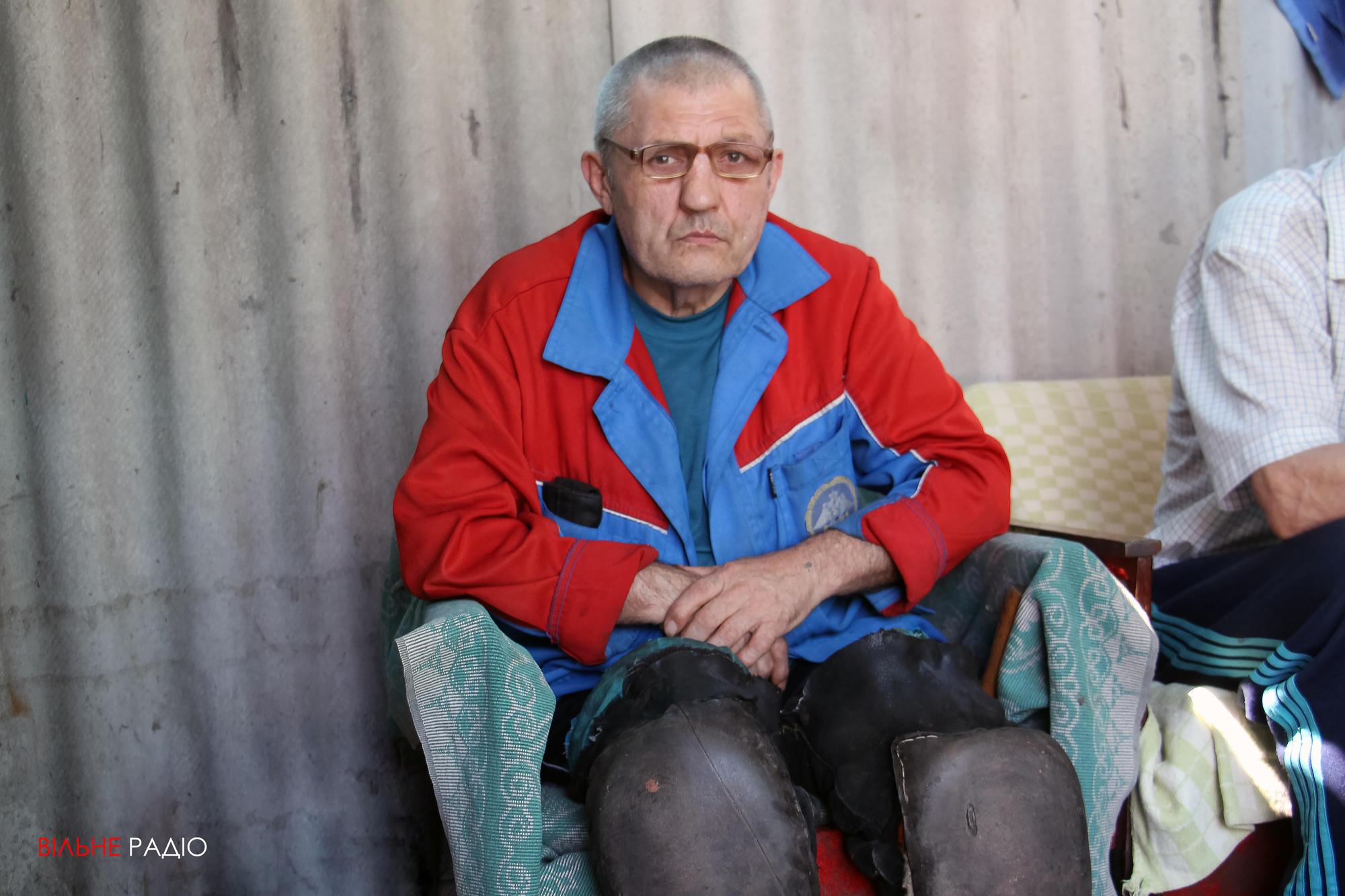 Житель хосписа в Часов Яре Сергей