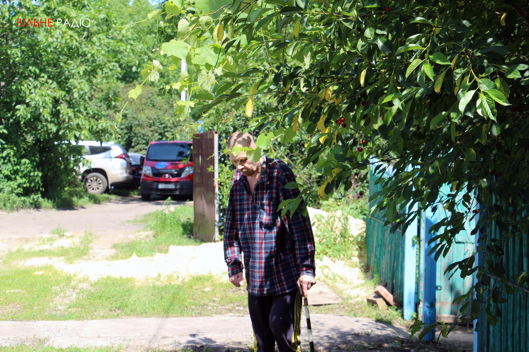 Мешканець хоспісу в Часів Ярі Віталій
