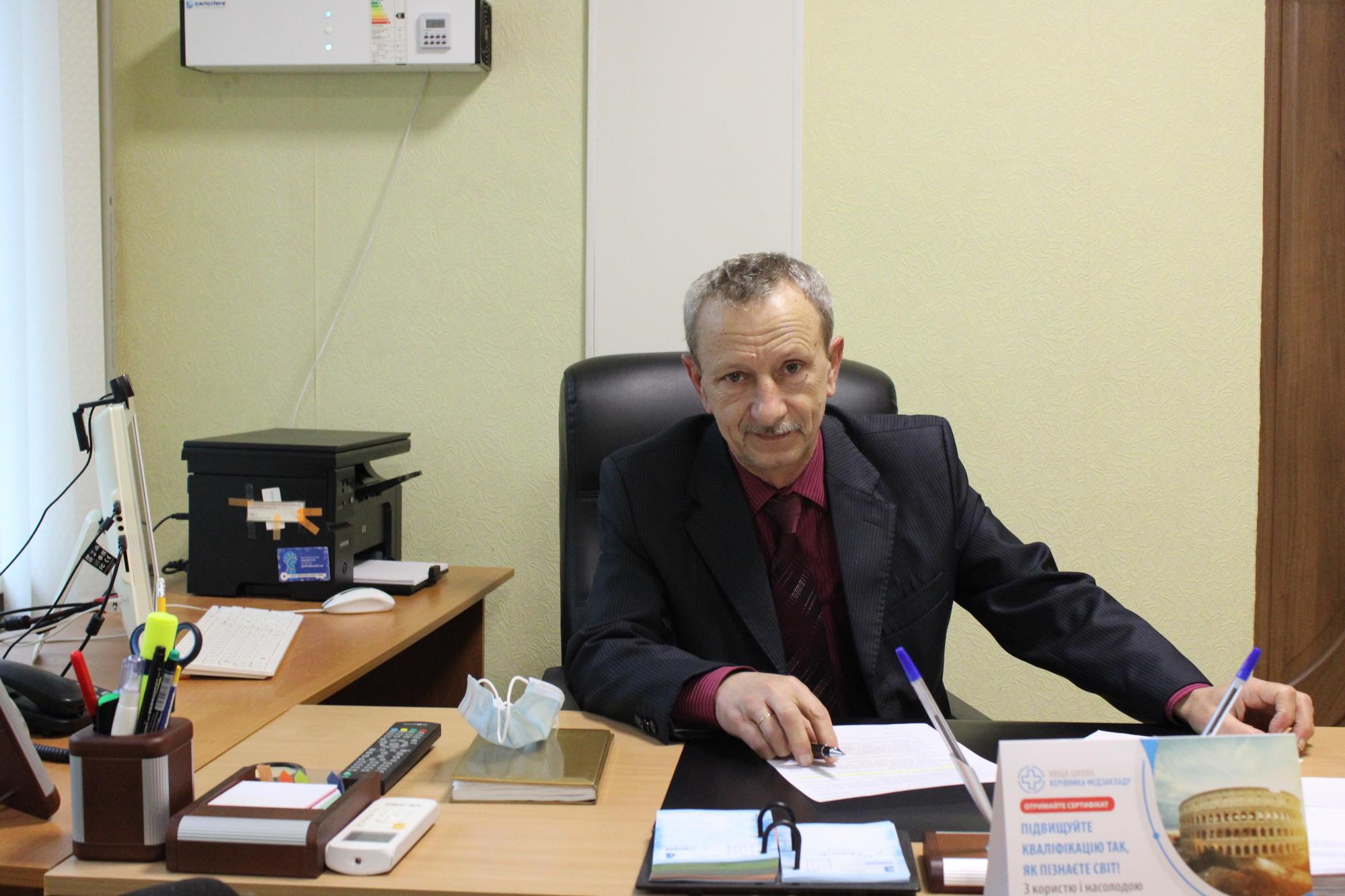 головний лікар Світлодарської лікарні Геннадій Гуржий