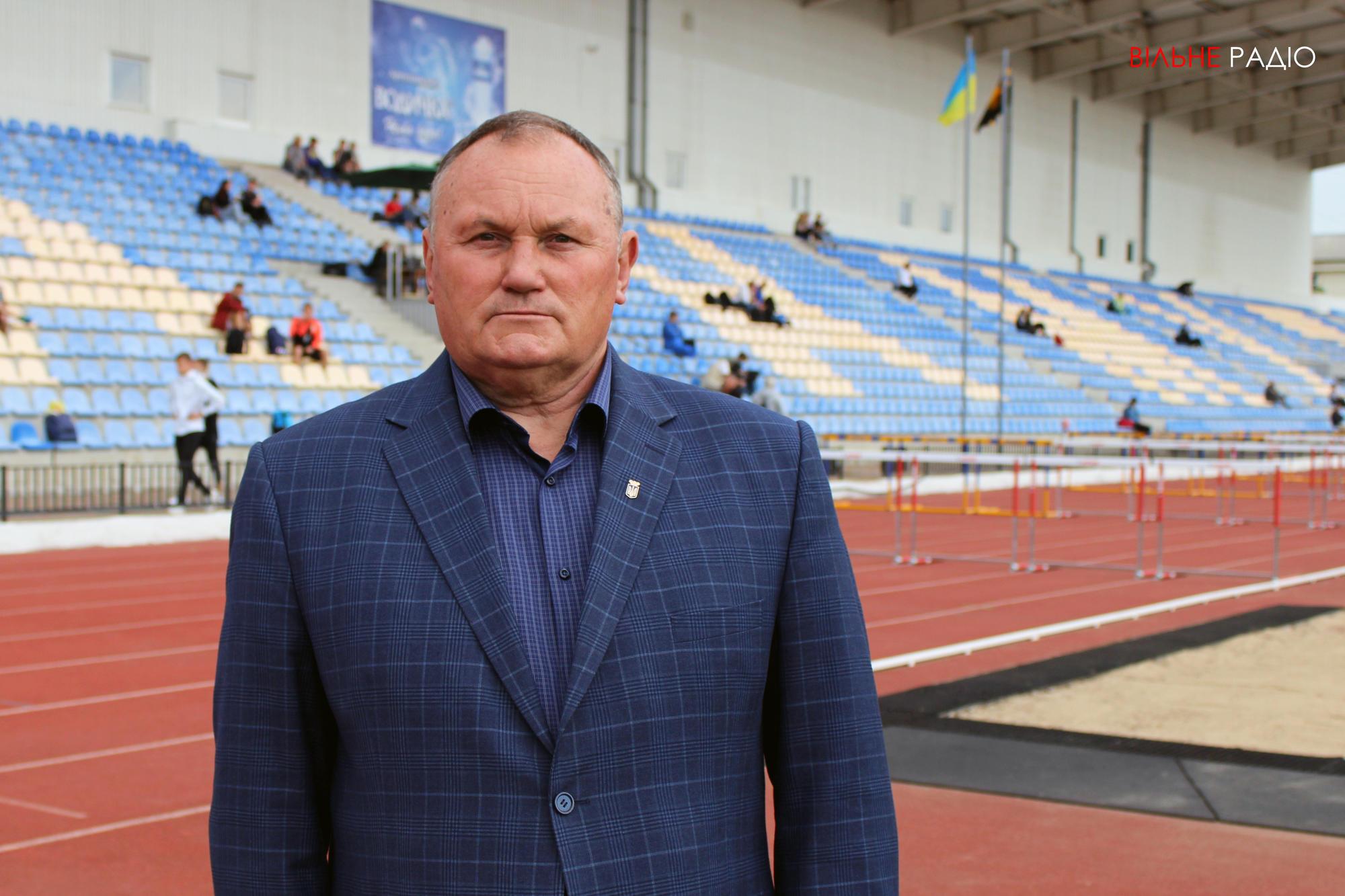 Начальник управления по вопросам физической культуры и спорта г. Бахмут, президент федерации легкой атлетики Донецкой области Виктор Лис
