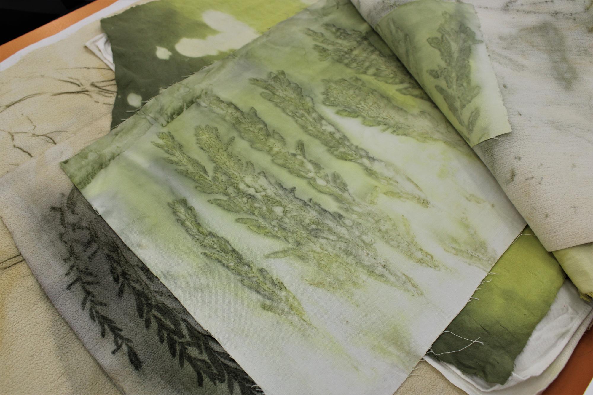 пофарбована рослинами тканина
