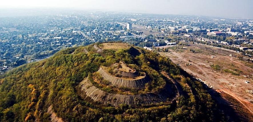 террикон шахты Кочегарка в Горловке