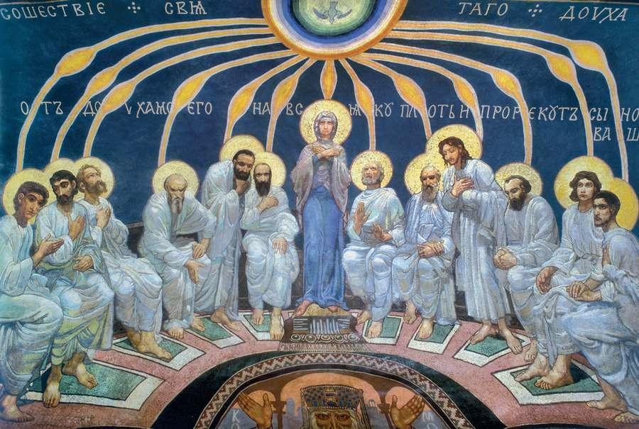 фреска Врубеля у Києві Зішестя Святого Духа на апостолів