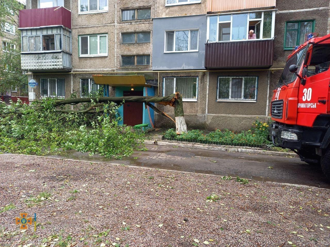 Последствия непогоды в Донецкой области