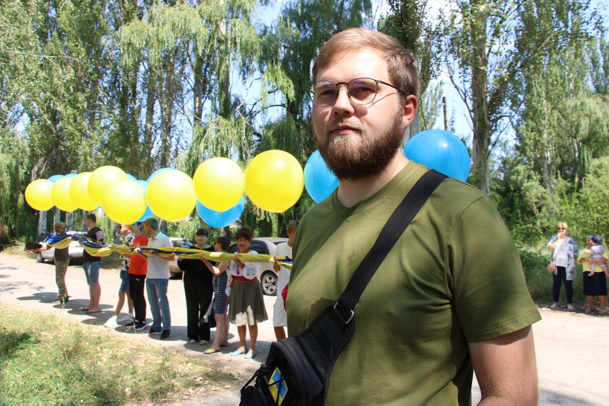 активіст зі Світлодарська Андрій Полухін