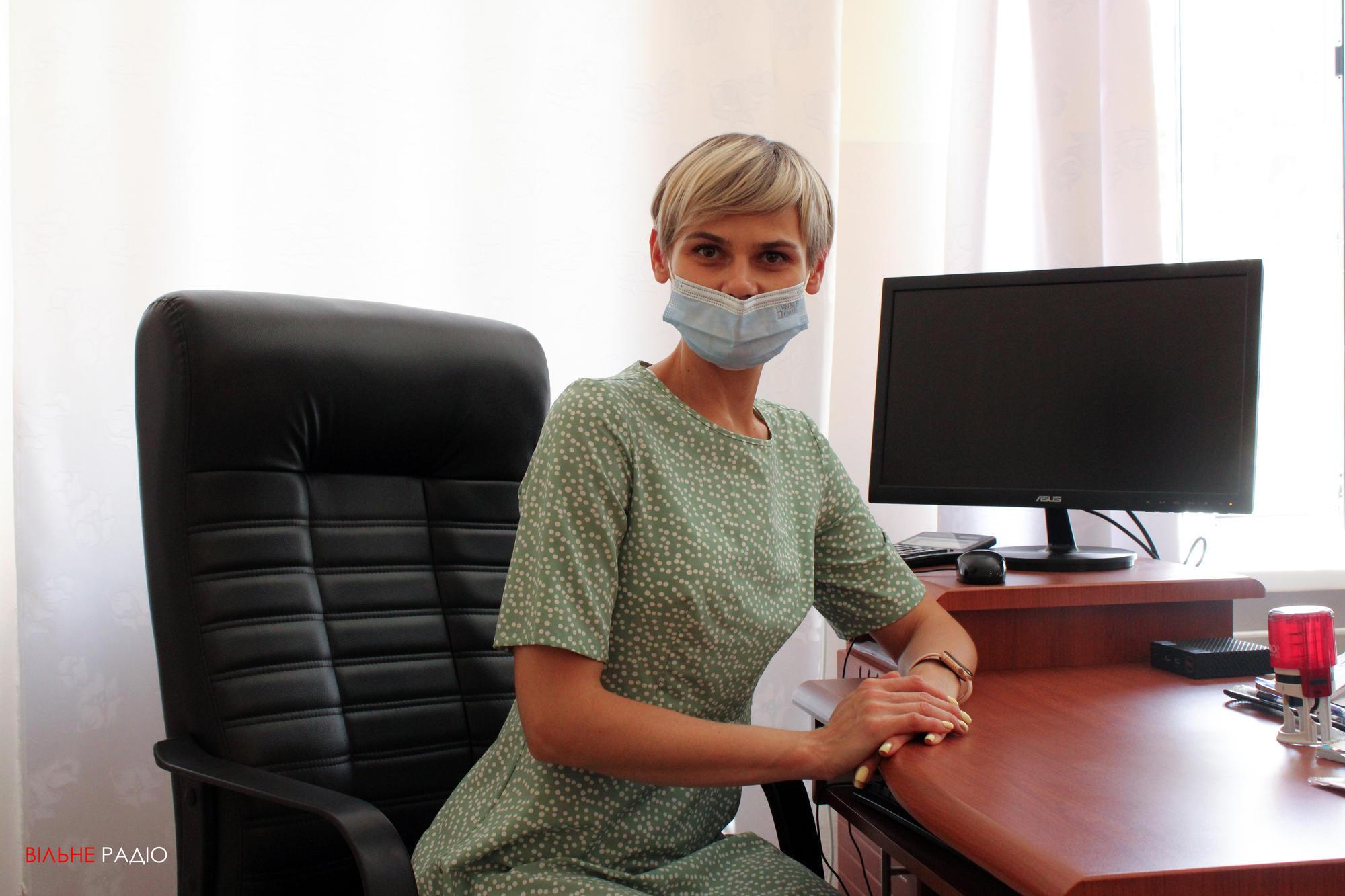 Заступниця головного лікаря Бахмутської багатопрофільної лікарні Ольга Блєднова