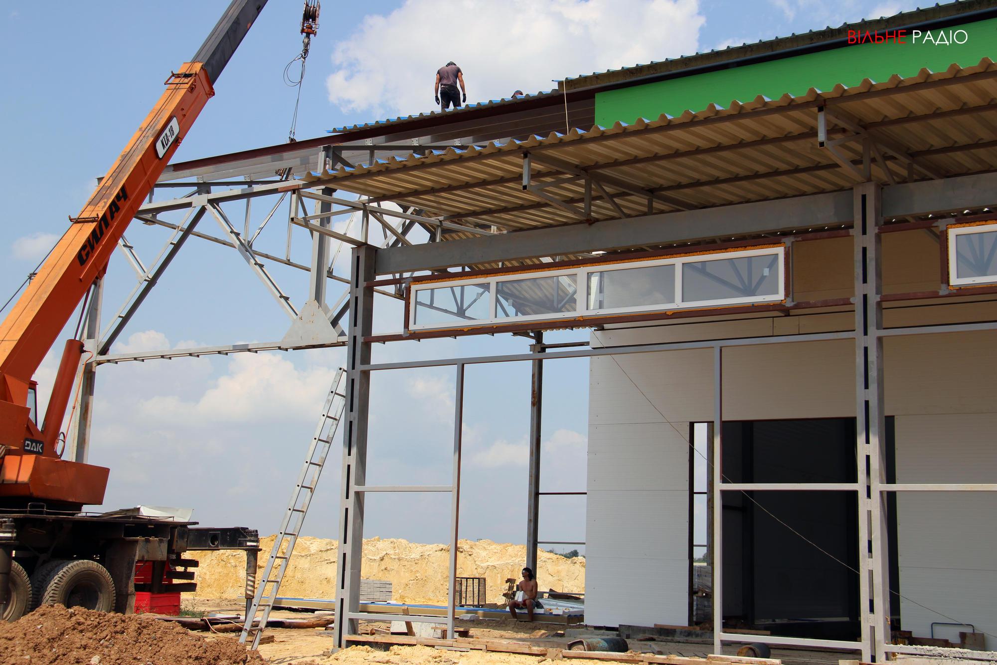 Строительство мусороперегрузочной станции в Бахмуте