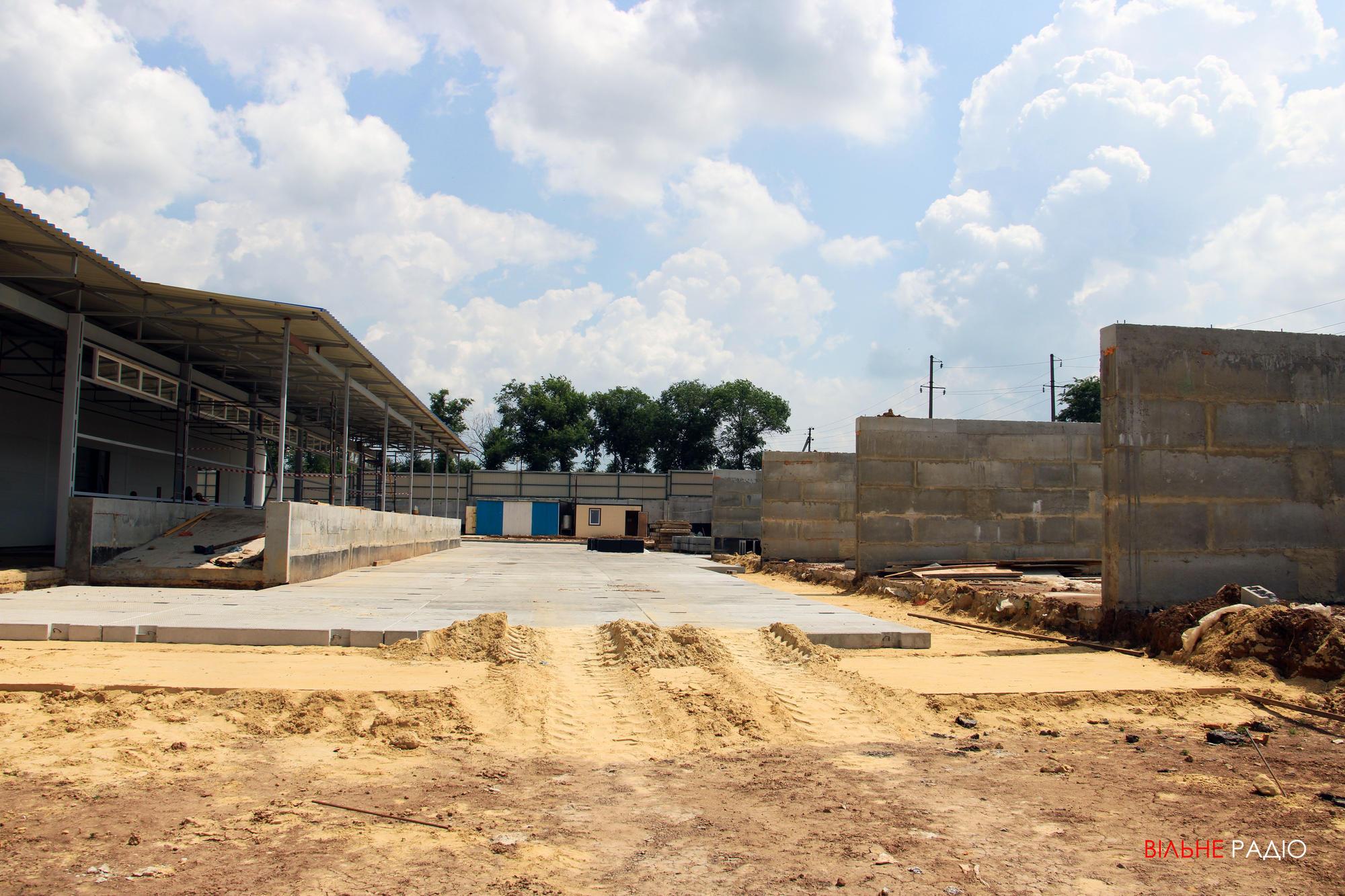 Будівництво сміттєперевантажувальної станції у Бахмуті