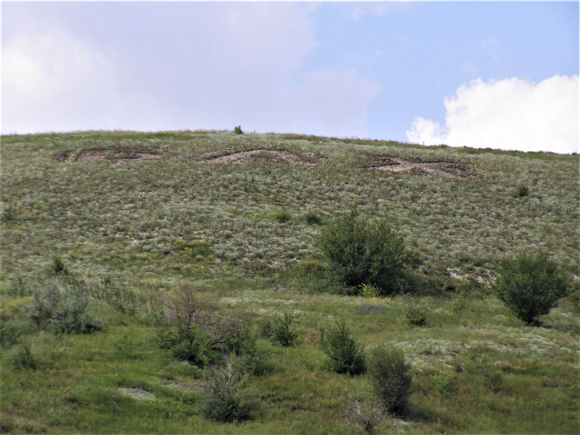 знищена рослинність пам'ятка природи Ступки Голубовські Бахмутської громади в Іванівському