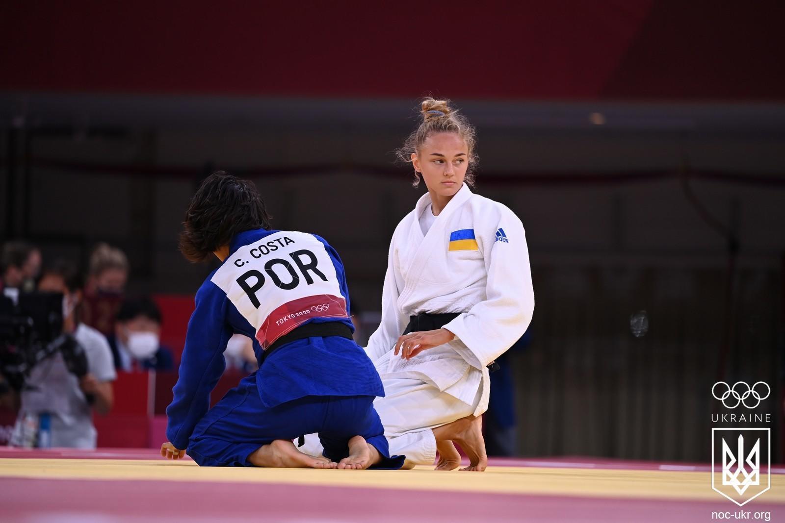 Украинская дзюдоистка Дарья Билодид выборола для Украины бронзовую медаль на Олимпиаде-2020