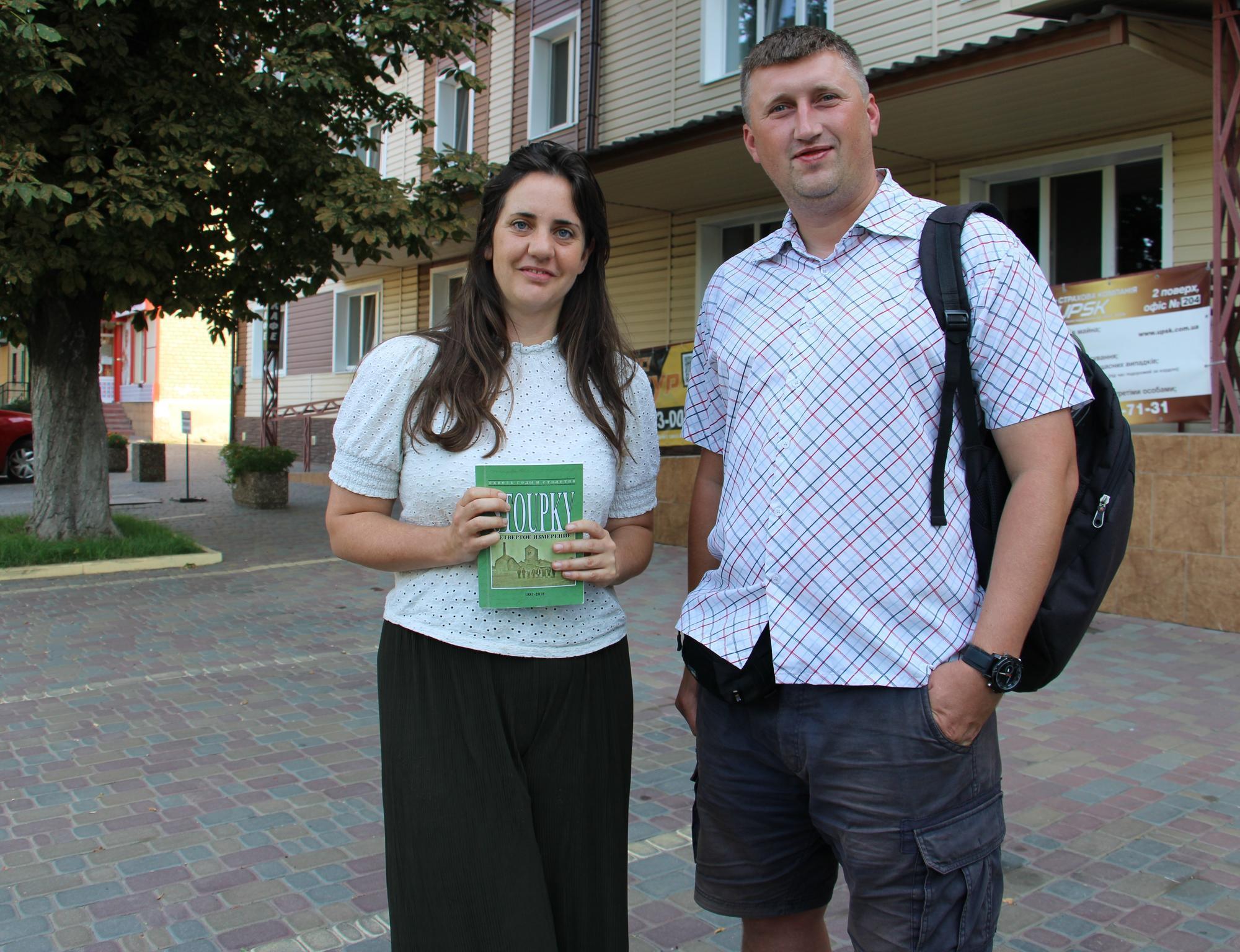 Вікторія Донован та Михайло Кулішов у Бахмуті